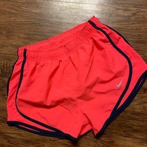 Hot pink and navy Nike shorts